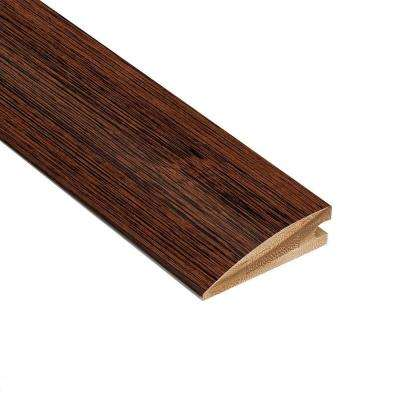 Brushed Horizontal Rainforest 3/8 in. Thick x 2 in. Wide x 78 in. Length Bamboo Hard Surface Reducer Molding