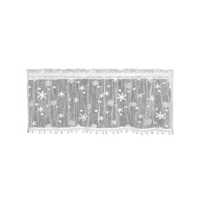 Wind Chill 45 in. L Polyester Valance in White