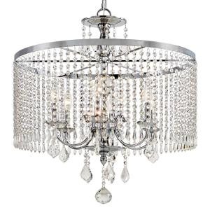 Home Decorators Collection 6-Light Polished Chrome Chandelier with K9 Crystal Dangles by Home Decorators Collection