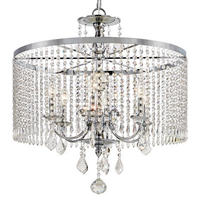 Calisitti 6-Light Polished Chrome Chandelier with K9 Crystal Dangles