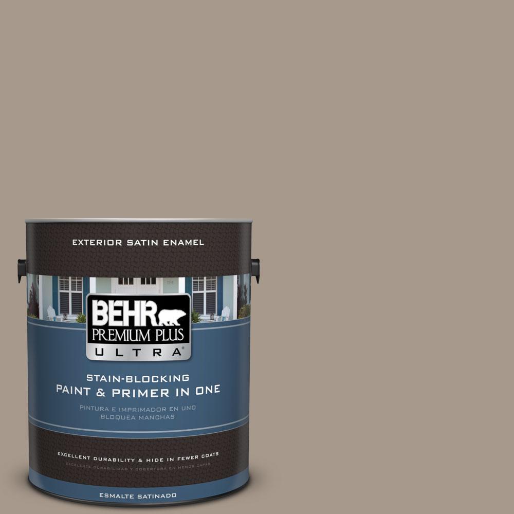 BEHR Premium Plus Ultra 1-gal. #BXC-10 Warm Stone Satin Enamel Exterior Paint