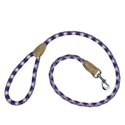 4 ft. Large Patriotic Red White and Blue Durable Woven Nylon Dog Leash
