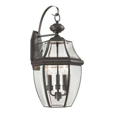 Ashford 3-Light Outdoor Oil Rubbed Bronze Sconce