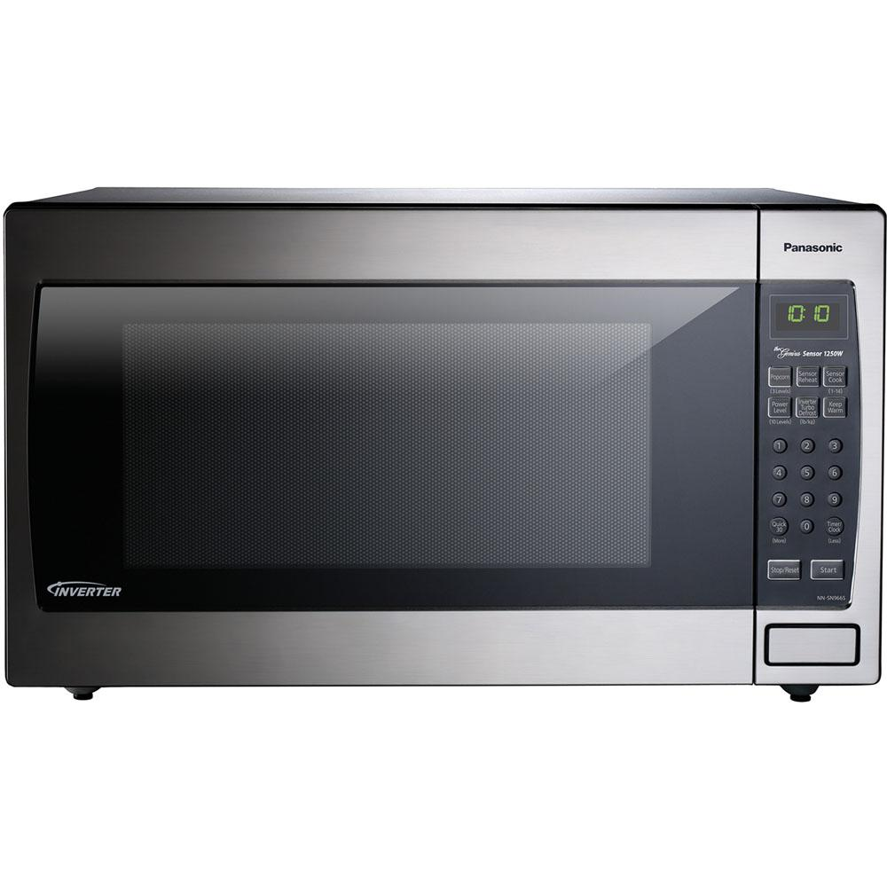 Panasonic 2 Cu Ft Countertop Microwave Oven In Stainless Steel Built Capable