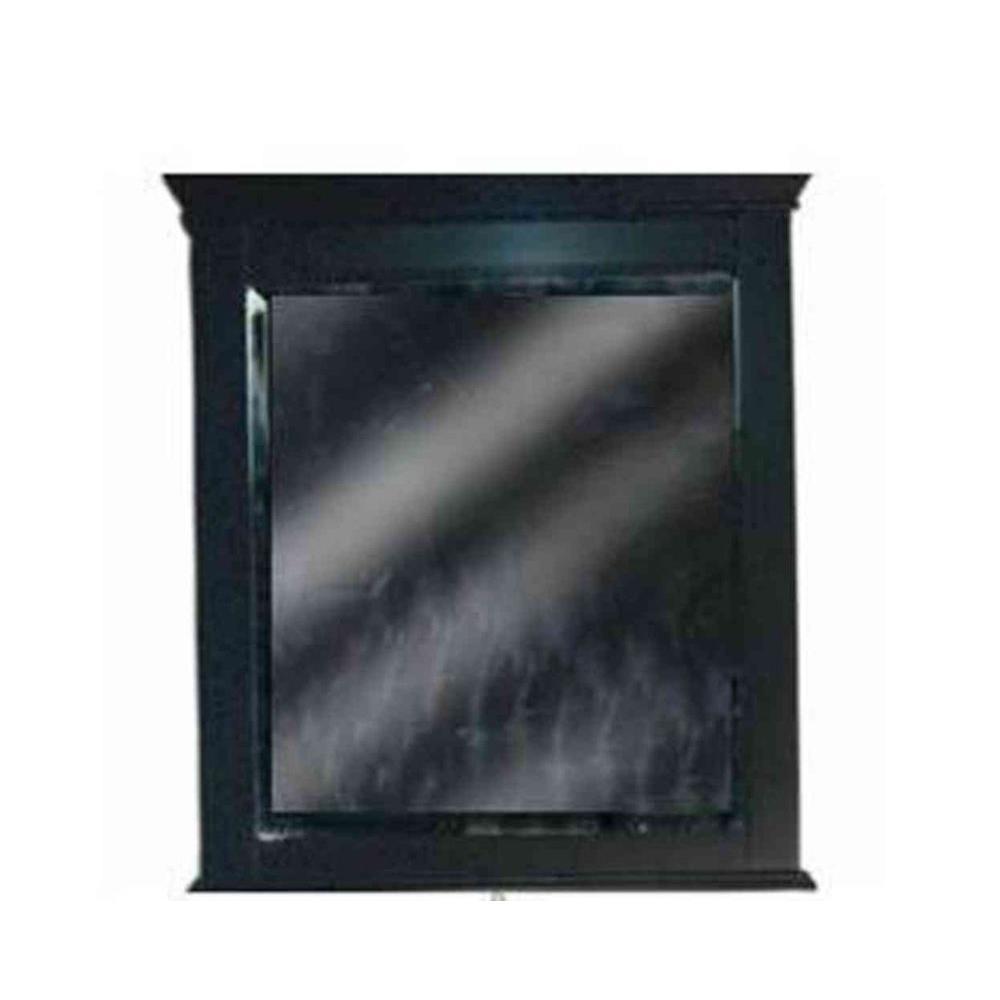 JSG Oceana Vineta 32 in. x 28 in. Framed Mirror in Black