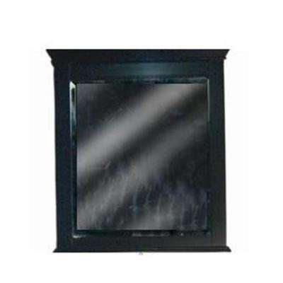 Vineta 32 in. x 28 in. Framed Mirror in Black