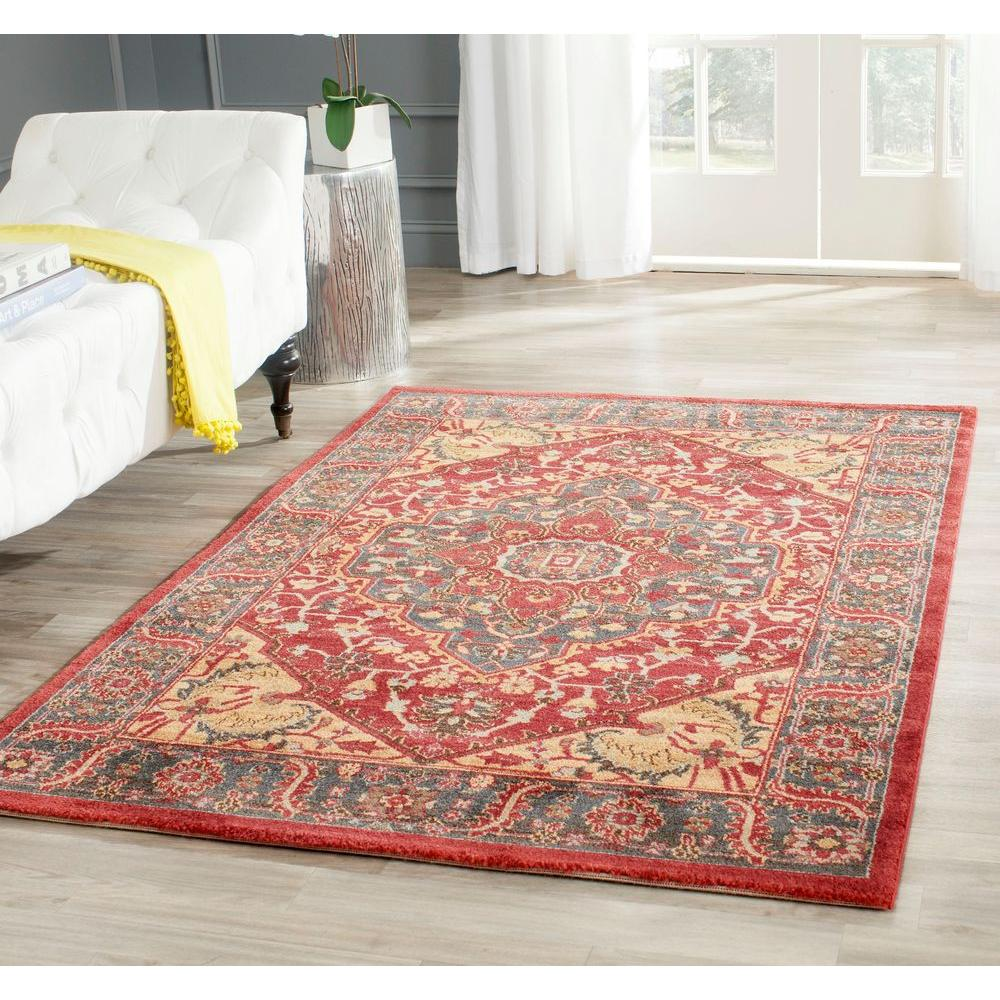 Safavieh mahal navy red 7 ft x 9 ft area rug