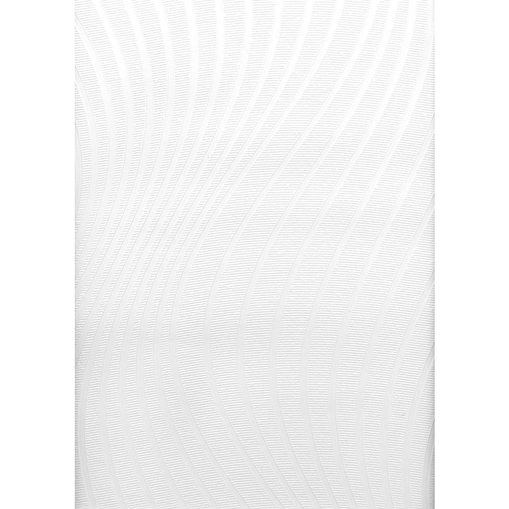 Brewster Swirl Undulating Texture Paintable Wallpaper, White U0026 Off White