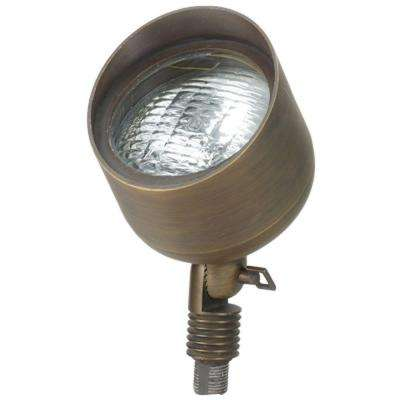 1-Light Antique Bronze Die Cast Brass Up Light