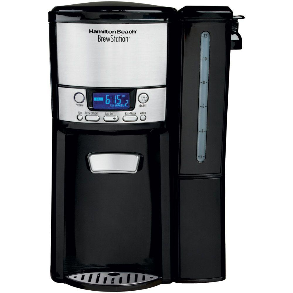 Hamilton Beach Black BrewStation 12-Cup Dispensing Coffeemaker with Removable Reservoir-DISCONTINUED