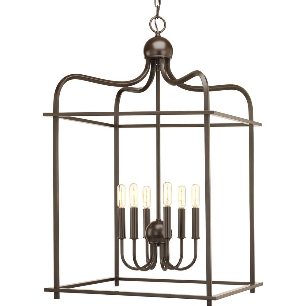 Assesmbly Hall Collection 6 -Light Antique Bronze Pendant