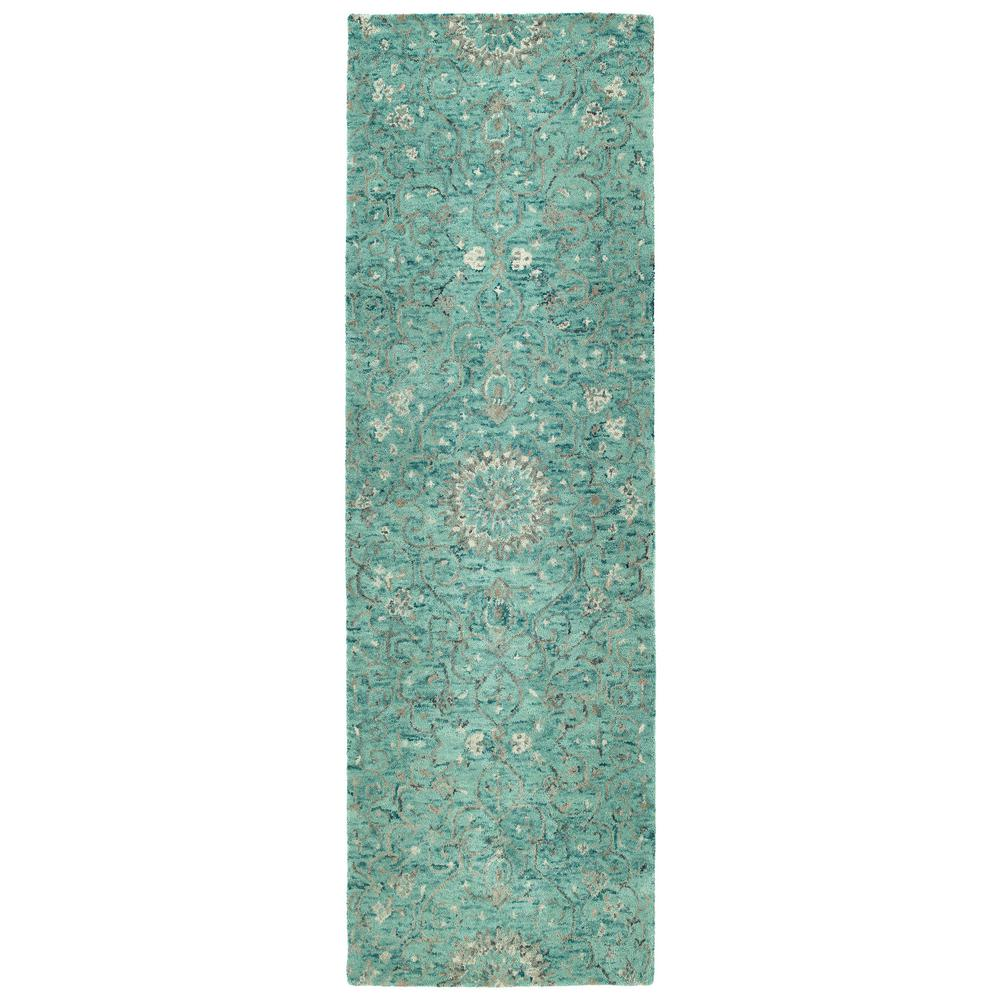 Chancellor Turquoise 2 ft. 6 in. x 8 ft. Runner