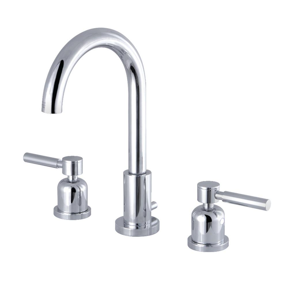 Kingston Brass Lilli 8 in. Widespread 2-Handle High-Arc Bathroom Faucet in Chrome