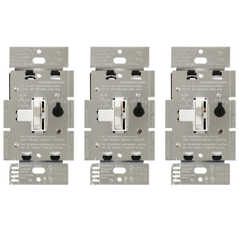 Lutron Toggler C.L Dimmer Switch for Dimmable LED, Halogen and ...