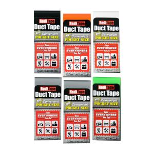 RediTape Pocket Size Duct Tape Mixed in Color (6-Pack)