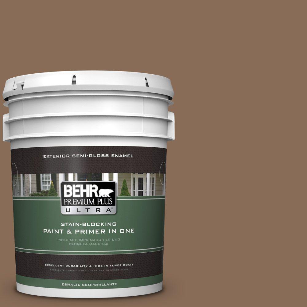 5-gal. #BNC-34 Spiced Latte Semi-Gloss Enamel Exterior Paint