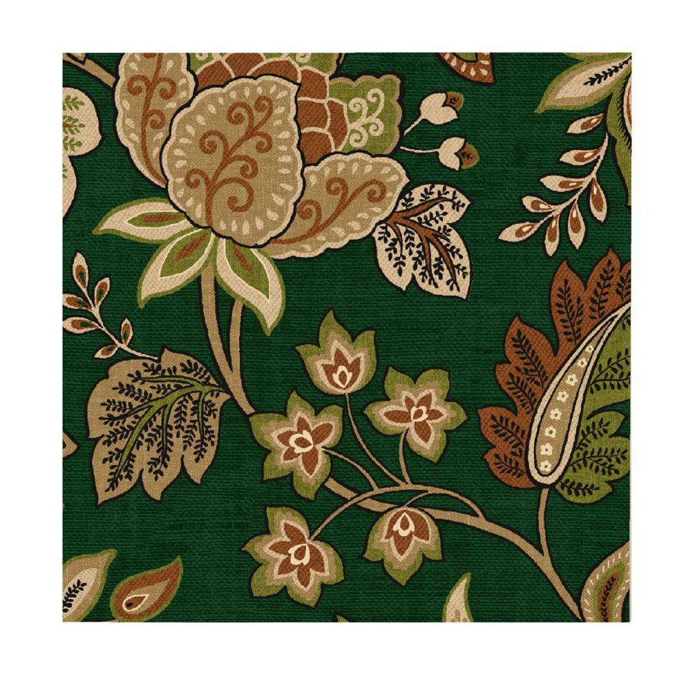 Arden Hunter Green Floral Fabric By The Yard-DISCONTINUED