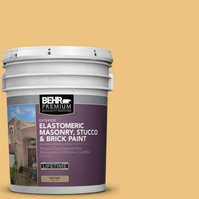 5 gal. #MS-36 Mayan Maize Elastomeric Masonry, Stucco and Brick Exterior Paint
