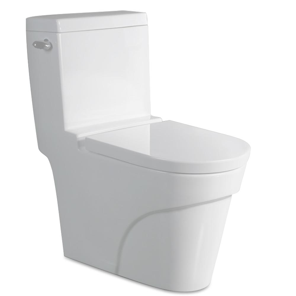 black square toilet seat. 1 Piece 6 GPF Elongated Toilet in White Porcelain  Toilets Seats Bidets The Home Depot