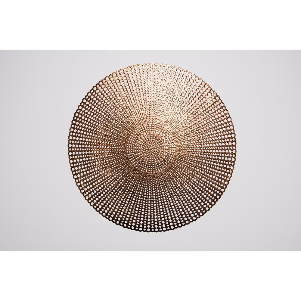 Brocade Copper 100% Eco Friendly Vinyl Placemat (Set of 4)