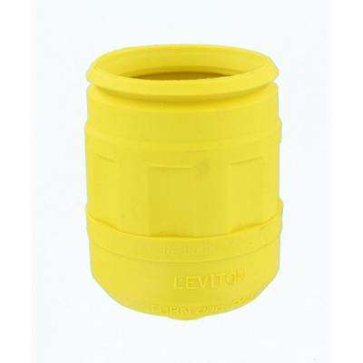 Weather Resistant Boot for 20/30 Amp 4, 5-Wire Straight or Locking Plug, Yellow