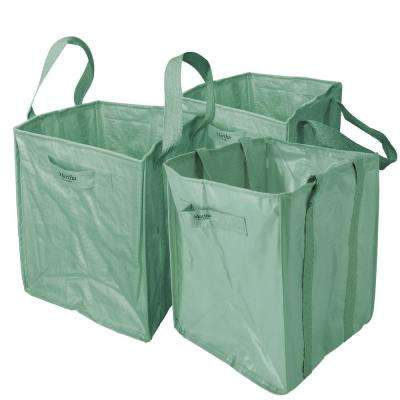 48 Gal. Multi-Purpose Heavy-Duty Garden Tote Bag with Reinforced Shoulder Straps and Side Handles (3-Pack)