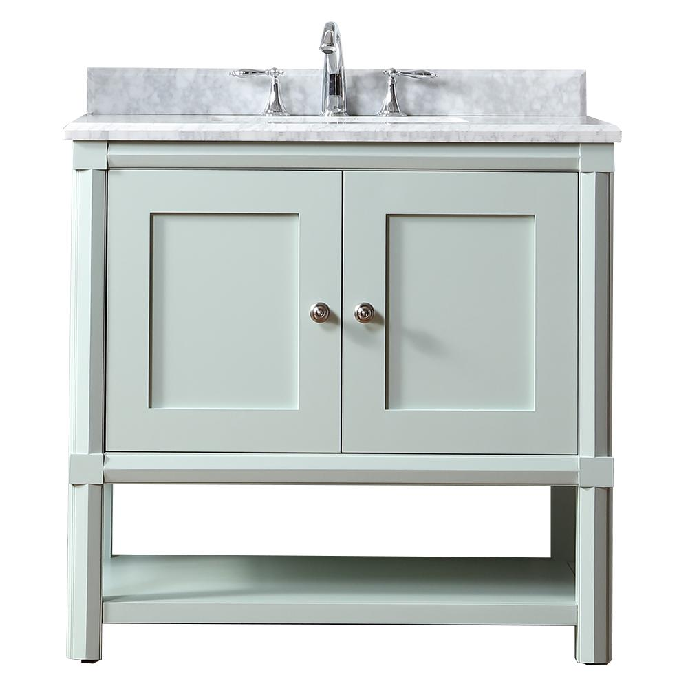 W X 22 In D Vanity Rainwater With Marble Top