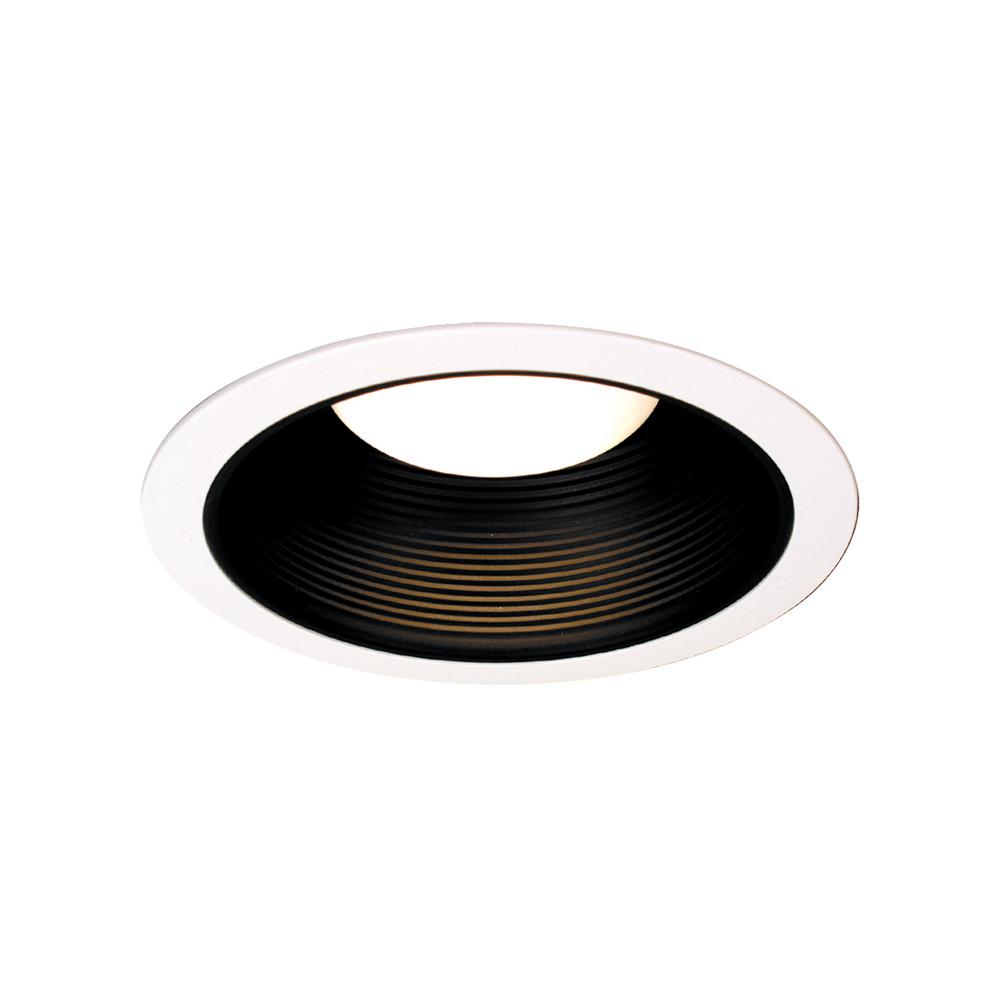 Thomas Lighting 6 In White With Black Baffle Recessed Trim