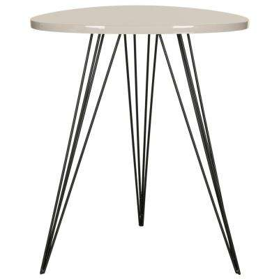 Wolcott Taupe and Black Side Table