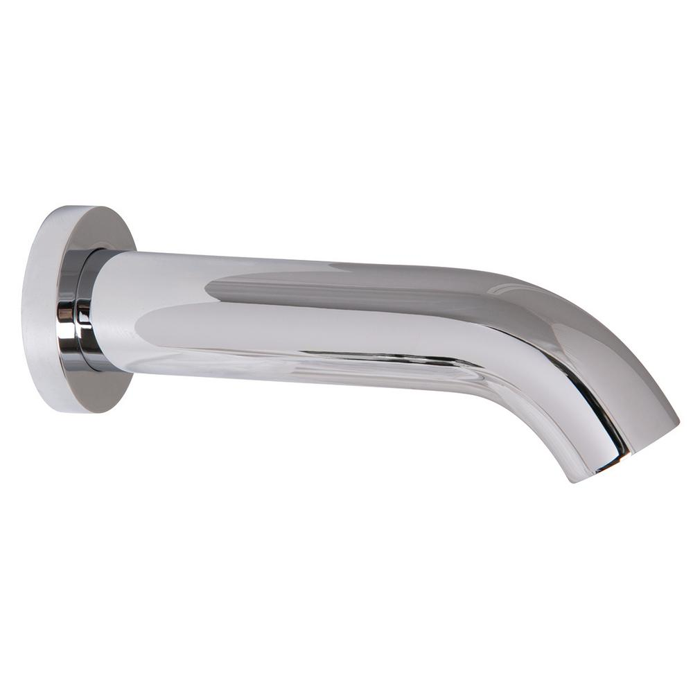 Round Wall Mount Sensor Faucet in Polished Chrome