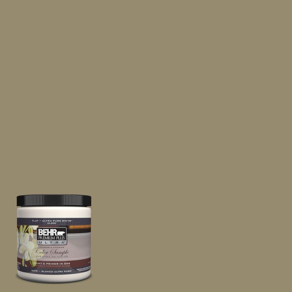 BEHR Premium Plus Ultra 8 oz. #UL190-4 Urban Safari Interior/Exterior Paint Sample