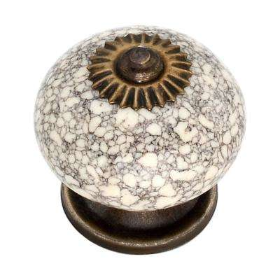 Marble Effect 1.61 in. Cabinet Knob