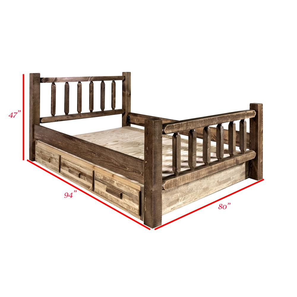 Homestead Collection Medium Brown King Bed with Storage