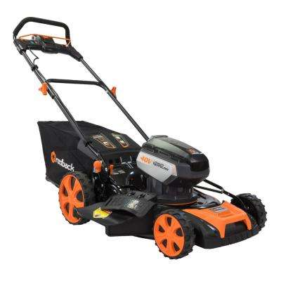 19 in. 40-Volt Electric Lithium-Ion Walk Behind Push Lawn Mower Kit