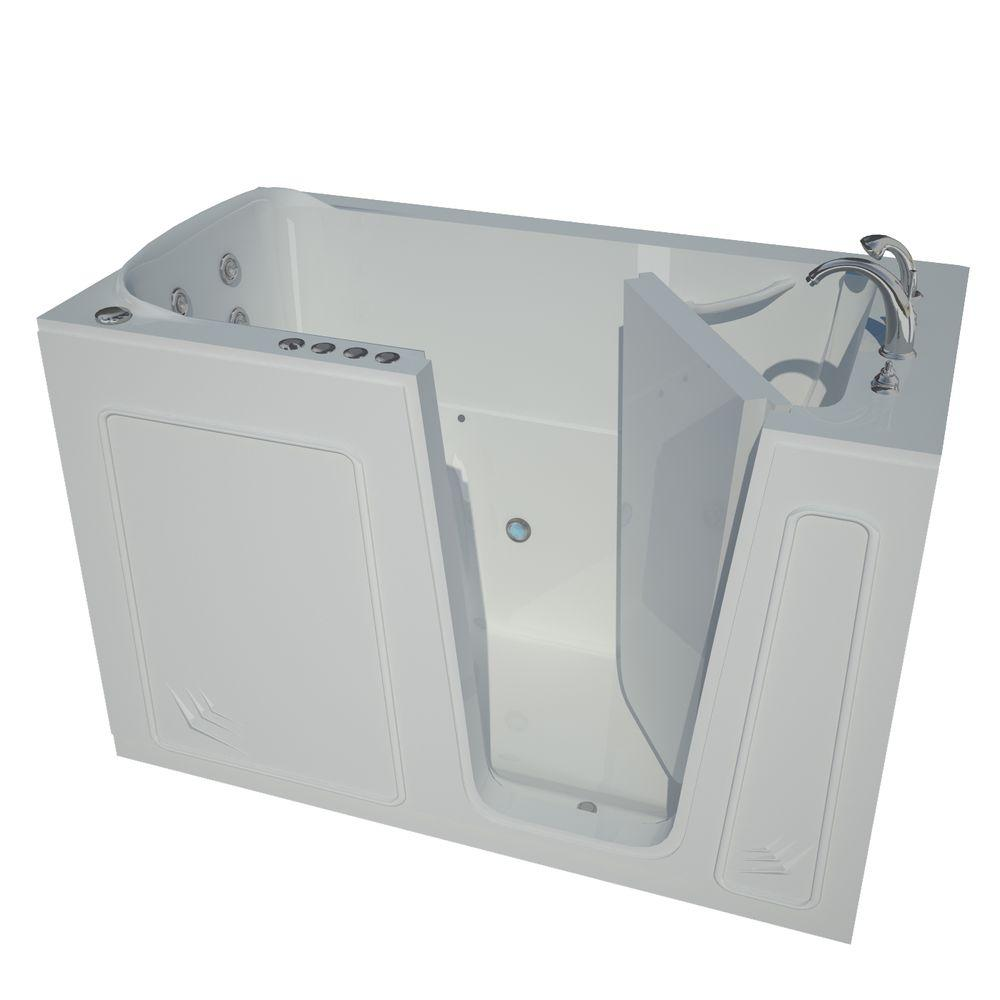 Universal Tubs Nova Heated Step-In 5 ft. Walk-In Air Jetted Tub in ...