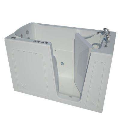HD Series 60 in. Right Drain Quick Fill Walk-In Whirlpool and Air Bath Tub with Powered Fast Drain in White