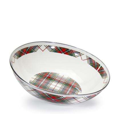 Highland Plaid 5 qt. Enamelware Round Catering Bowl
