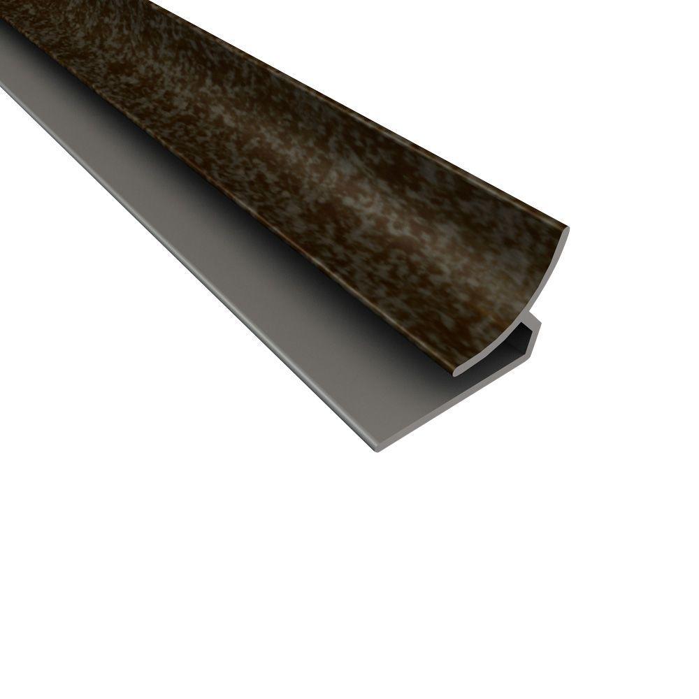 Fasade 4 ft. Large Profile Inside Corner Trim in Smoked Pewter