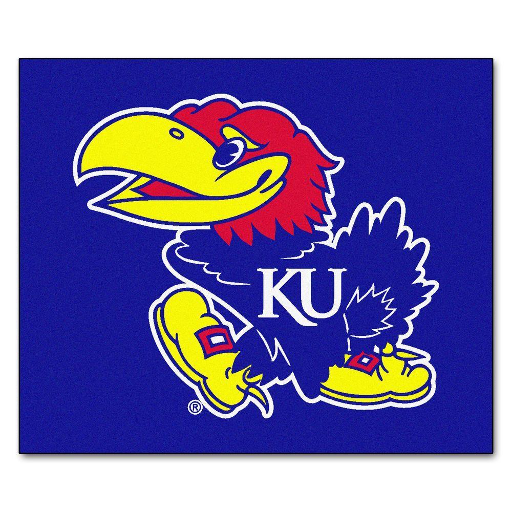 University of Kansas 5 ft. x 6 ft. Tailgater Rug, Team Colors