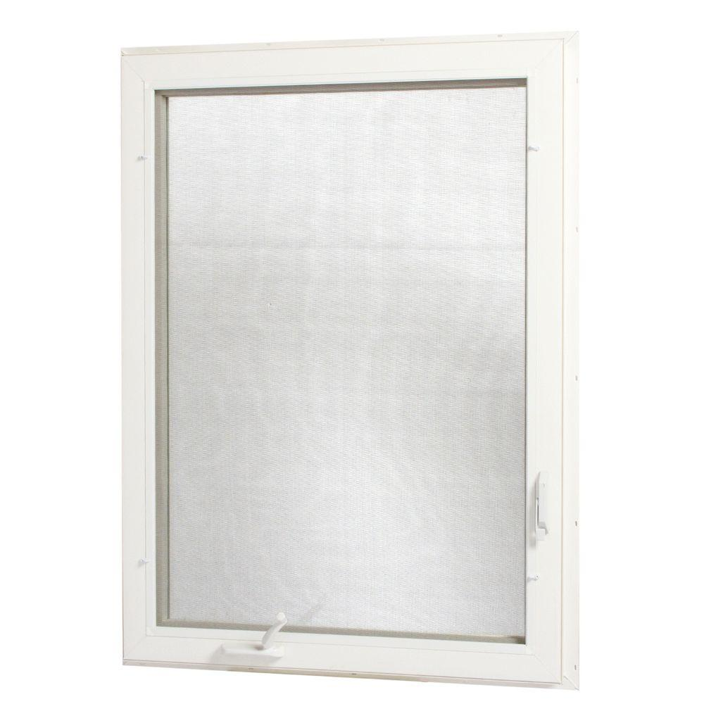 36 in. x 48 in. Left-Hand Vinyl Casement Window with Screen