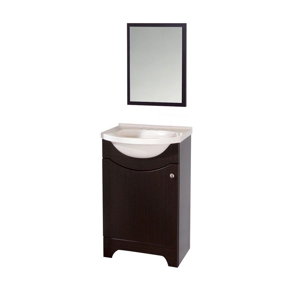 st paul seville 21 in w x 19 in d bathroom vanity in ebony with rh homedepot com