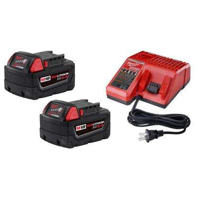 M18 18-Volt Lithium-Ion Starter Kit with Two 5.0 Ah Battery Packs and Charger