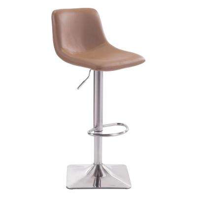 Cougar Adjustable Height Taupe Cushioned Bar Stool
