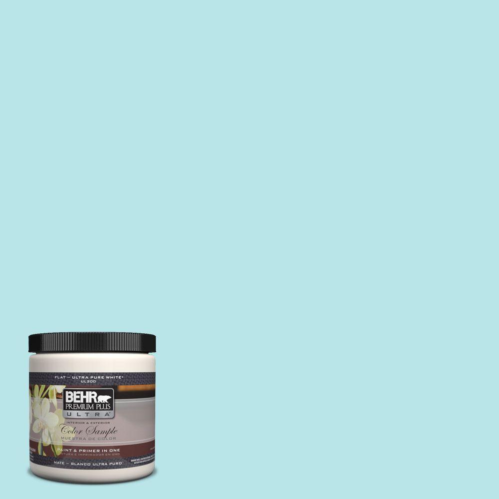 BEHR Premium Plus Ultra 8 oz. #500A-2 Refreshing Pool Interior/Exterior Paint Sample