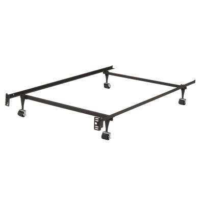 Twin Heavy Duty Metal Bed Frame with Locking Rollers