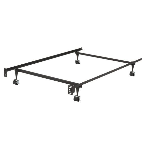 Kings Brand Furniture Twin Heavy Duty Metal Bed Frame with Locking