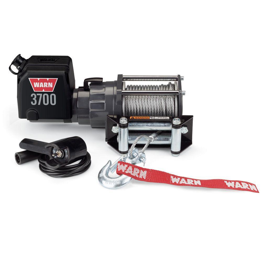 Warn 3700 lbs. 12-Volt DC Utility Winch