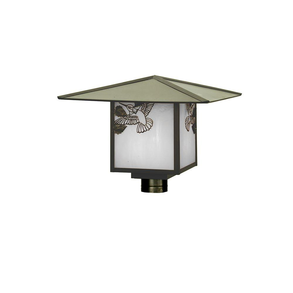 Illumine 1 Seneca Hummingbird Post Mount Craftsman Finish