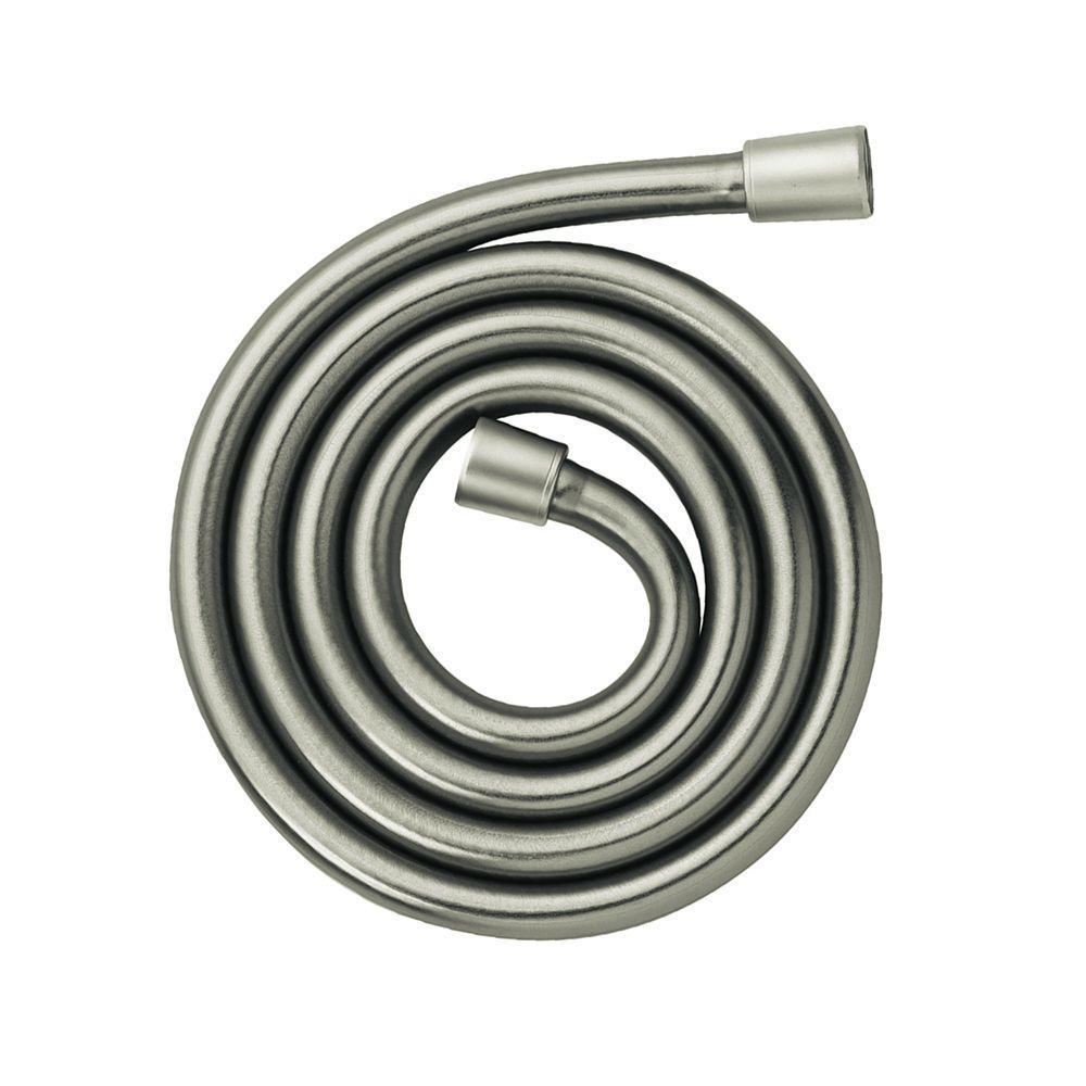 Ecoright 1/2 In. X 63 In. Techniflex Slim Hose In Brushed Nickel
