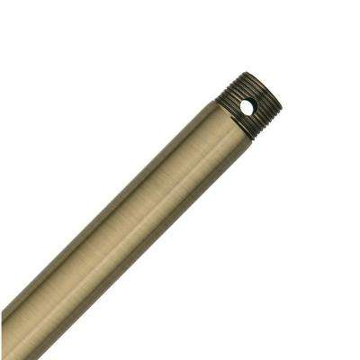 Hang-Tru Perma Lock 72 in. Antique Brass Extension Downrod for 15 ft. ceilings